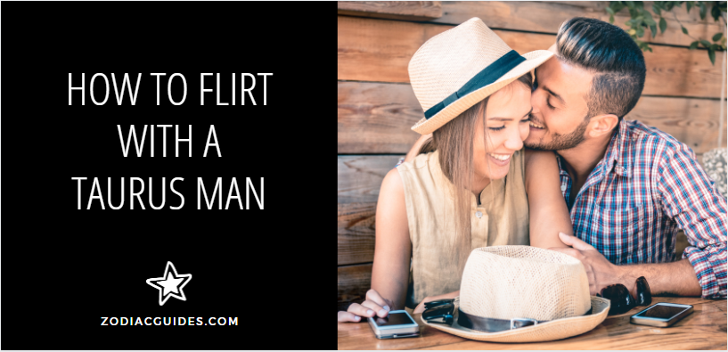 how to flirt with a Taurus man, man whispering in womans ear on a bench