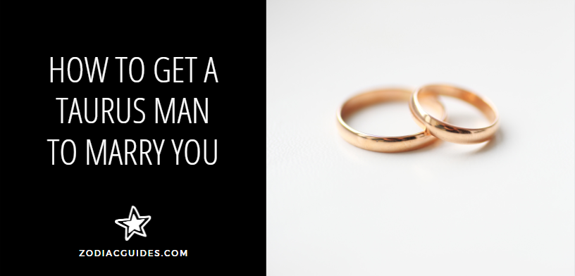 how to get a Taurus man to marry you, two gold rings on a white surface