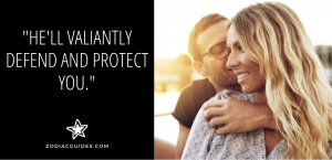 man hugging woman with a quote about cancer man defending a woman he loves